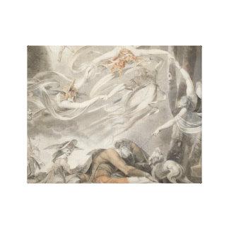 Henry Fuseli - The Shepherd's Dream Canvas Print
