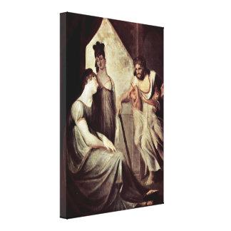 Henry Fuseli - Thetis asks Hephaestus Canvas Print