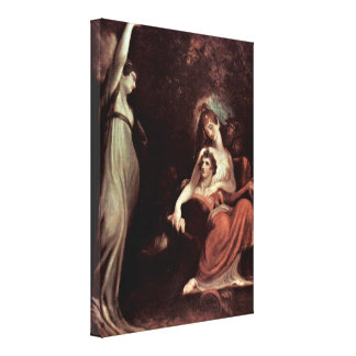 Henry Fuseli - Virtue recalls the youth Canvas Prints