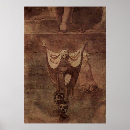 Henry Füssli - Dante Virgil Ice of Kozythus 1774 Poster