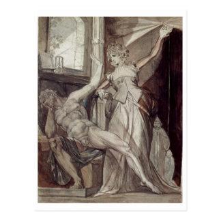 Henry Füssli - Kriemhild, Gunther @ Prison 1807 Postcard