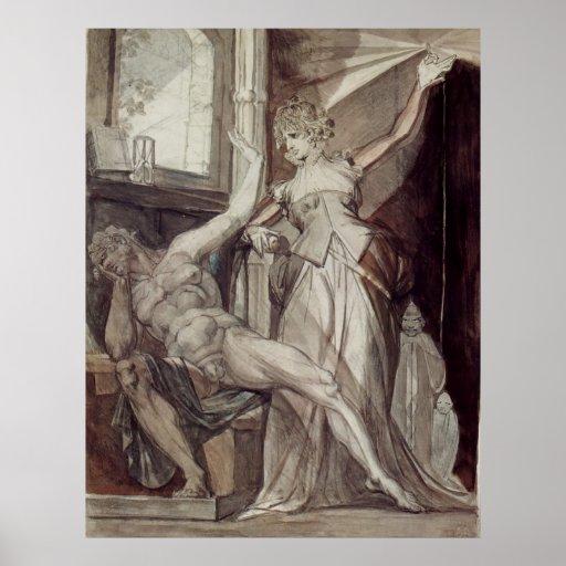 Henry Füssli - Kriemhild, Gunther @ Prison 1807 Print