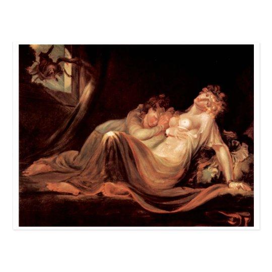 Henry Füssli Nightmare Leaves 2 Sleeping Girl 1793 Postcard