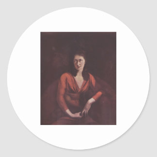 Henry Füssli Portrait Magdalena Hess Zurich Canvas Classic Round Sticker