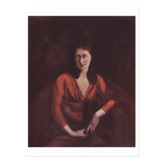 Henry Füssli Portrait Magdalena Hess Zurich Canvas Postcard