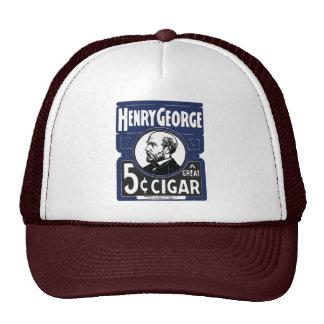 Henry George un gran cigarro de 5 centavos Gorras De Camionero