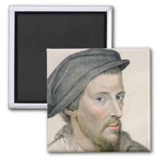 Henry Howard, conde de Surrey (c.1517-47) grabado Imán Cuadrado