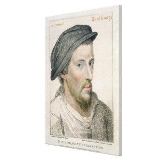 Henry Howard, Earl of Surrey (c.1517-47) engraved Canvas Print