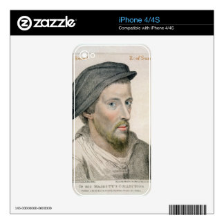 Henry Howard, Earl of Surrey (c.1517-47) engraved Decal For The iPhone 4