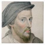 Henry Howard, Earl of Surrey (c.1517-47) engraved Large Square Tile