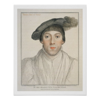 Henry Howard, Earl of Surrey, engraved by Francesc Poster