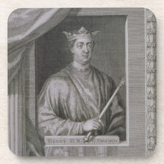 Henry II (1133-89) King of England from 1154, from Beverage Coaster