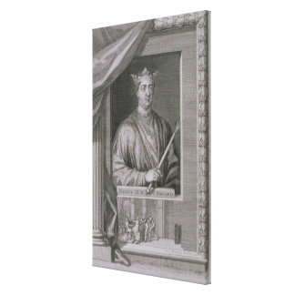Henry II (1133-89) King of England from 1154, from Canvas Print