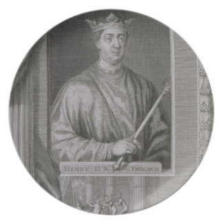 Henry II (1133-89) King of England from 1154, from Dinner Plate
