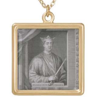 Henry II (1133-89) King of England from 1154, from Gold Plated Necklace