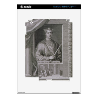 Henry II (1133-89) King of England from 1154, from iPad 3 Skins