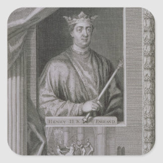 Henry II (1133-89) King of England from 1154, from Square Sticker