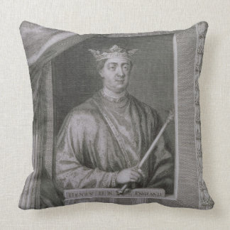 Henry II (1133-89) King of England from 1154, from Throw Pillow