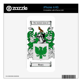 Henry (Irish) Coat of Arms Skins For iPhone 4S