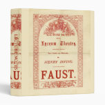 Henry Irving's Faust 3 Ring Binders