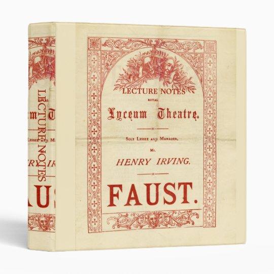 Henry Irving's Faust Binder