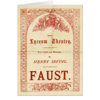 Henry Irving's Faust Card