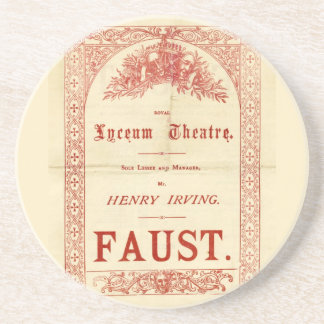 Henry Irving's Faust Drink Coaster