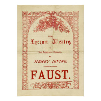 Henry Irving's Faust Poster