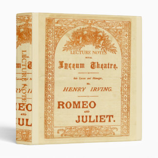 Henry Irving's Romeo & Juliet 3 Ring Binders