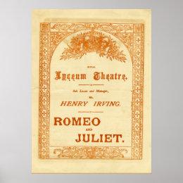 Henry Irving's Romeo & Juliet Poster
