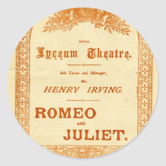 Henry Irving's Romeo & Juliet Classic Round Sticker