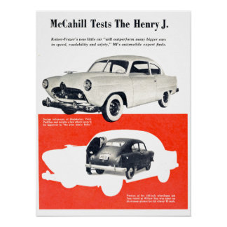 Henry J Automobile 1950 Poster
