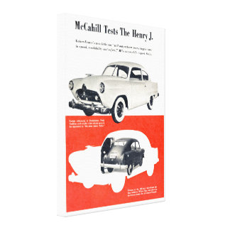 Henry J Automobile 1950 Wrapped Canvas Print