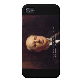 "Henry James ""Monkeys & Cats"" Wisdom Quote Gifts iPhone 4/4S Cases"