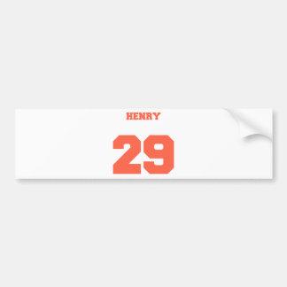 Henry Jersey Design Car Bumper Sticker