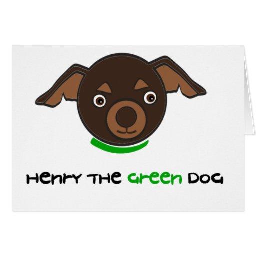 Henry las tarjetas del perro del verde