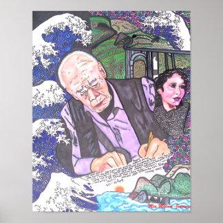 Henry Miller, Anais Nin y Sur grande Póster