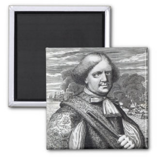 Henry Morgan, 1678 2 Inch Square Magnet