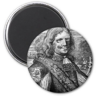 Henry Morgan Pirate Portrait 2 Inch Round Magnet