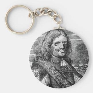 Henry Morgan Pirate Portrait Basic Round Button Keychain