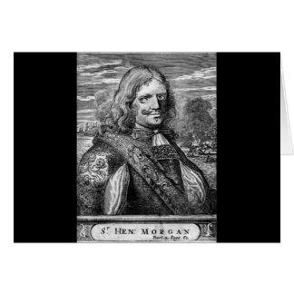 Henry Morgan Pirate Portrait Card