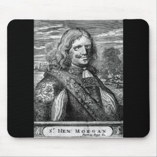 Henry Morgan Pirate Portrait Mouse Pad