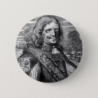 Henry Morgan Pirate Portrait Pinback Button