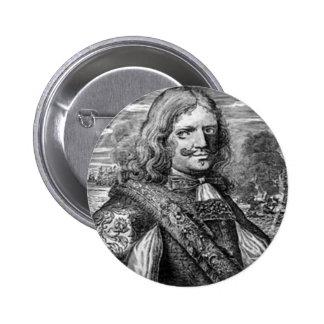Henry Morgan Pirate Portrait Pinback Button