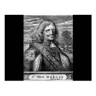 Henry Morgan Pirate Portrait Postcard