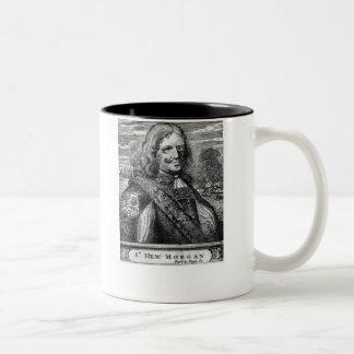 Henry Morgan Pirate Portrait Two-Tone Coffee Mug