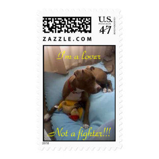 henry playin, I'm a lover, Not a fighter!!! Postage Stamp