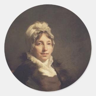 Henry Raeburn- Ann Fraser, Mrs. Alexander Tytler Classic Round Sticker