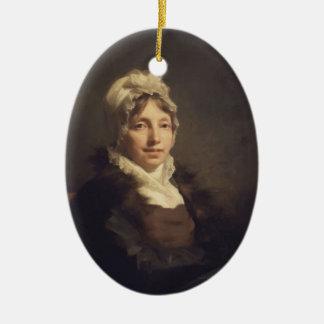 Henry Raeburn- Ann Fraser, Mrs. Alexander Tytler Double-Sided Oval Ceramic Christmas Ornament