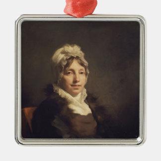 Henry Raeburn- Ann Fraser, Mrs. Alexander Tytler Square Metal Christmas Ornament